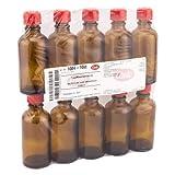 TROPFFLASCHE 50 ml m.Einsatz+Verschluss braun 10 St Flaschen
