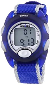 Timex Children's Digital Watch with LCD Dial Digital Display and Blue Nylon Strap T7B9824E