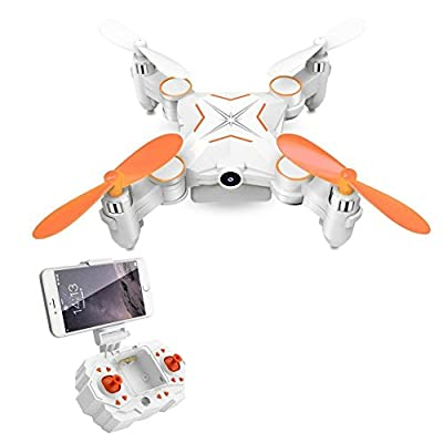 Rabing Mini Foldable FPV VR WiFi Quadcopter Remote Control Drone with HD 720P Camera RC Helicopter