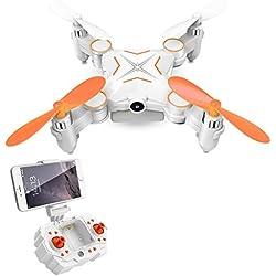 Rabing RC Drone, Mini Plegable FPV VR Wifi RC Quadcopter Control Remoto Drone con HD 720P Cámara RC Helicóptero