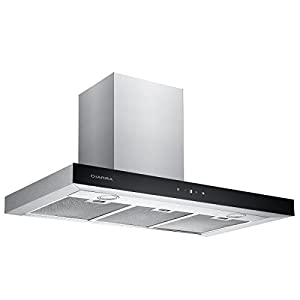 CIARRA 90cm Stainless Steel Touch Control Chimney Cooker Hood Range Hood Kitchen Extractor Fan …