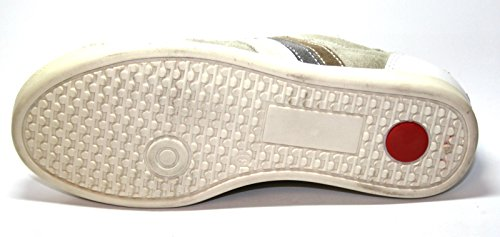 Sport Kids 9989 Kinder Cherie grau weiß braun Beige Schuhe 4 Mädchen ohne Karton Halbschuhe d5qgd