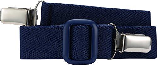 Playshoes Unisex - Kinder Gürtel 601200 Elastischer Kindergürtel mit Clips Uni, passend bei Größe 74-110, Gr. one size, Blau (marine)