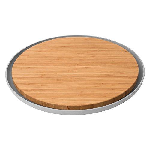 Berghoff leo tagliere rotondo e piastra in fibra di bambù, marrone, 36.5cm, pezzi