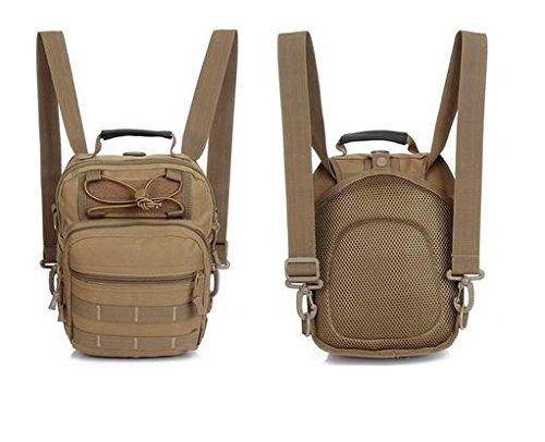 Zll/Ventola multifunzione Outdoor multiuso tattico petto borsa crossbody borsa a tracolla spalla Camo zaino, ACU ACU