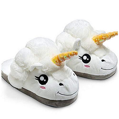Einhorn Schuhe, Hausschuhe, Pantoffeln, Schlappen, Gr. 37-40,unisize, unicorn, super weich und angenehm zu tragen. Plüsch