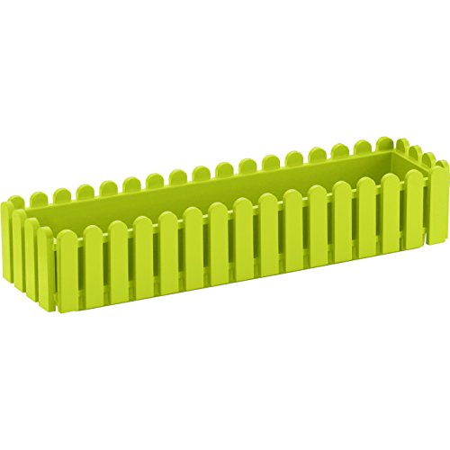 EMSA 508695 Blumenkasten LANDHAUS, UV-beständig, frostfest, Made in Germany, Grün, 74 x 20 x 16 cm (Pot Garden Green)