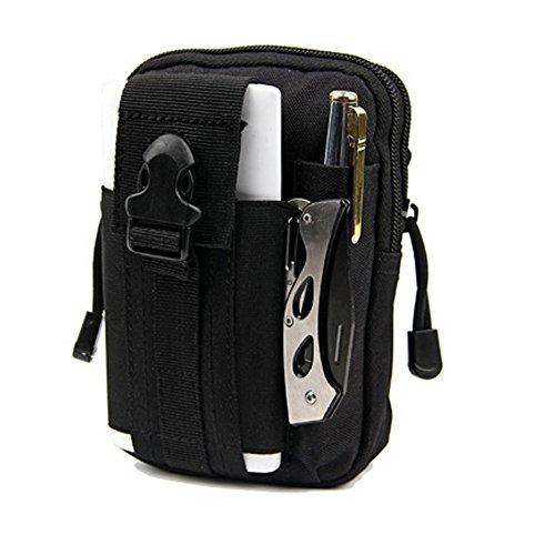 Wantoby Leicht klein Tactical Hip Bag Hüfttasche Beintasche für iphone 10s,Mode Multifunktional Handytasche für Camping Wandern Outdoor