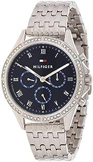 ساعة تومي هيلفجر ستانلس ستيل بمينا ازرق للنساء - 1782141