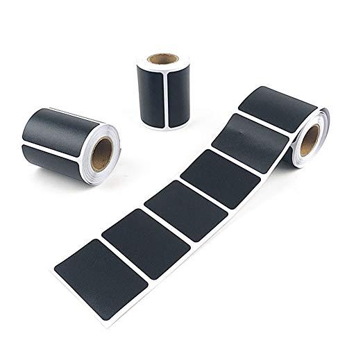 Kylewo 120 pezzi adesivi per targhette etichette adesivi in   vinile, adesivi per placche in pratico dispenser per barattoli di spezie, marmellata, ecc