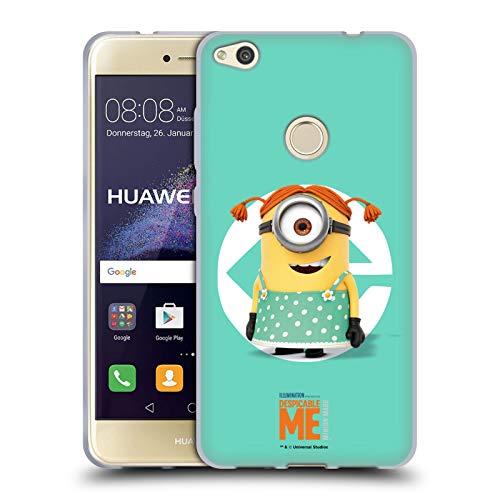 Head Case Designs Offizielle Despicable Me Stuart Maedchen Kostuem Minions Soft Gel Huelle kompatibel mit Huawei P8 Lite (2017)