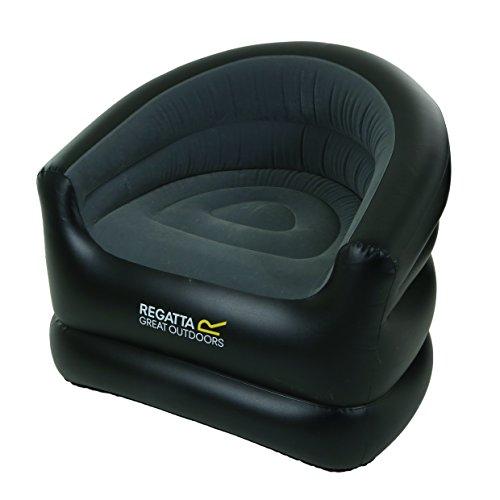 Regatta RCE218 06N Aufblasbare Sessel, Unisex, Erwachsene, Schwarz/Ebony