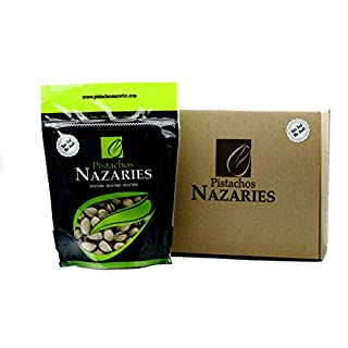 Pistachios Nazaríes - 2 x 250gr Pack of UNSALTED High quality Spanish Pistachio Nuts coming from our own production, carefully selected and roasted with NO SALT. Very crunchy.