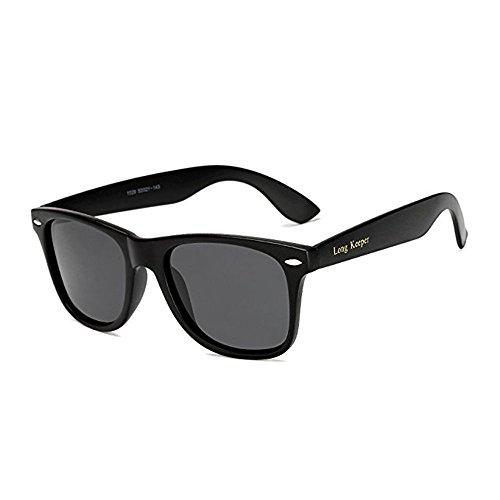 Long Keeper Gafas de sol Polarizadas Gafas de sol Cuadradas Vendimia Clásico para Mujeres Hombres (Gris)