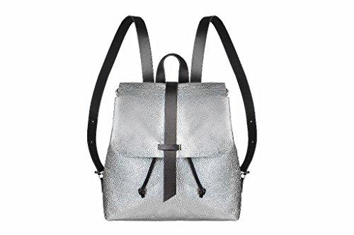 sandori-damen-rucksack-ledertasche-aus-echtem-und-samtweichem-rindsleder-farbe-metallic-silber-perlg