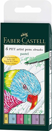 Faber-Castell Pitt Artists – Rotuladores pastel (6 unidades)