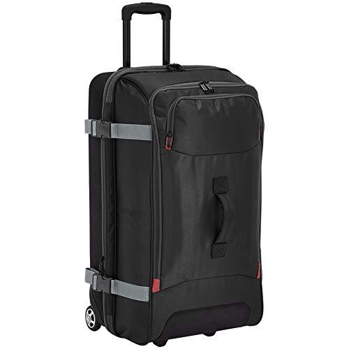 AmazonBasics - Reisetasche mit Rollen, Groß, Schwarz