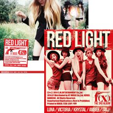 KPOP,f(x), Red Light , The 3rd Album (A ver. or B ver. Randomly dispatched) [ one random card and one sticker inside ]