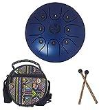 Steel pan Steel Tongue Drum, 5.5in Tamburo Di Lingua In Acciaio, Mini Tamburo 5 Toni In Acciaio Tamburo Per Chiave Mano Strumento A Percussione Chiave Mazzette Di Tamburo Borsa Per Trasporto
