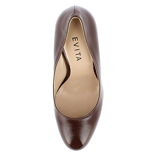 Evita Shoes Cristina, Scarpe col tacco donna Fango