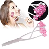 Facial Massager, Neue Face-Up-Roller-Massage, Um Gewicht Zu Verlieren, Um Kinn Hals Gesichtsmassage Zu Entfernen, Face-Lifting Face-Lift Elastische Radblume Hand-Held Walze Massage Beauty-Tools