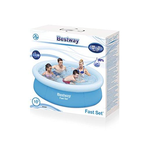 Schwimmbad Bestway Fast Set Pool 198 x 51 cm Familienpool Schwimmbecken Becken - 4