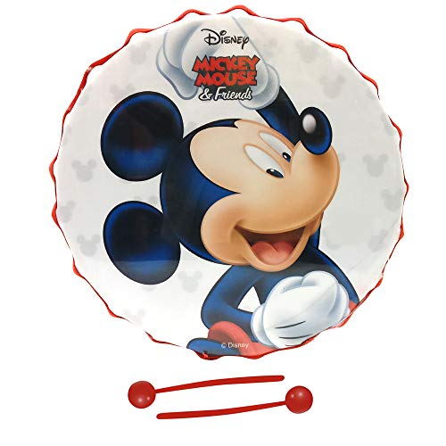 Musical Toy Marching Snare Drum Set For Kids Musical Instrument For Boys & Girls - 8.3 Inches Diameter Disney Mickey Mouse And Friends Theme