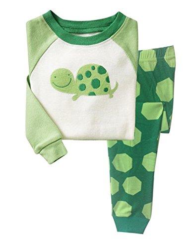 Little Hand - Pigiama a maniche lunga per ragazzi - tartaruga Pigiama Set (2-3 anni, verde)