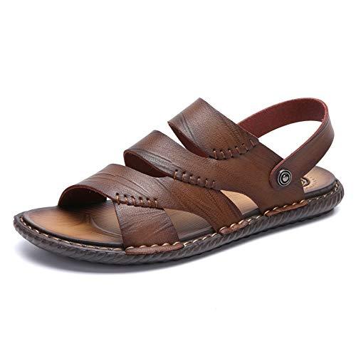 HILOTU-Sandali uomo Open Toes Pantofole Summer Outdoor Traspirante Sport Beach Sandals (Color : Cachi, Dimensione : 44 EU)