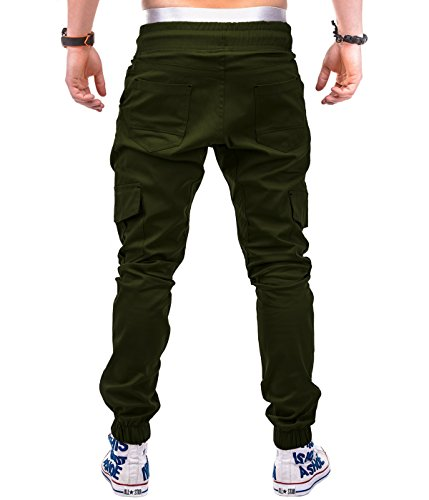 Betterstylz MasonBZ Cargo Chino Jogger Pantalon Chino Èlégant Military Homme 4 couleurs (M-XXL) Olive
