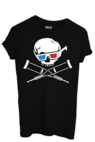T-SHIRT JACKASS 3D-FILM by MUSH Dress Your Style - Uomo-M-NERA