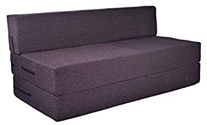 ComfyBean - 3 Seater - Space Saving Furniture - Foldable - Sofa Cum Bed - 5 Ft X 6 Ft - with Removable Washable Cover - (Wine)