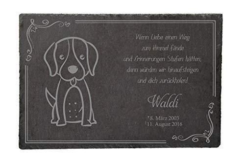Livingstyle & Wanddesign Placa Conmemorativa para Animales - Perro