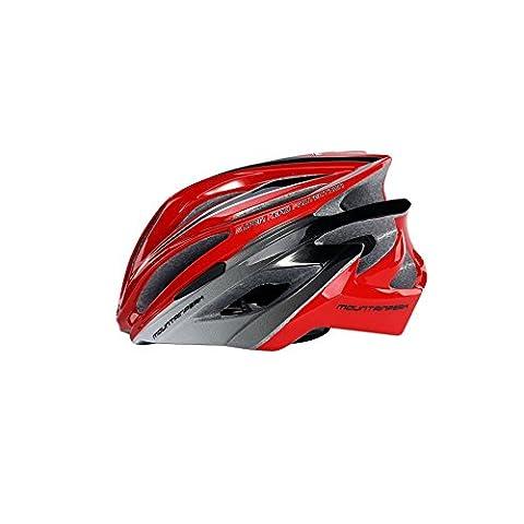 Ultra léger - Casque de vélo spécialisé, Casque de vélo de sport réglable Casques de vélo pour vélo de route et de montagne, Motocyclette pour hommes et femmes adultes, Jeunes - Courses, Protection de sécurité, Fibre de carbone ( Color : Red )
