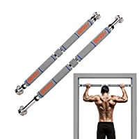 OneTwoFit Pull Up Bar door frame, adjustable to doors with a width of 65 - 85 cm/pull up bar made of sturdy steel, 3 installation methods - max user weight up to 150kg OT033