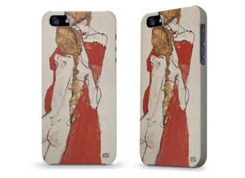 """Hülle / Case / Cover für iPhone 5 und 5s - """"Rotes Kleid"""" von Egon Schiele"""
