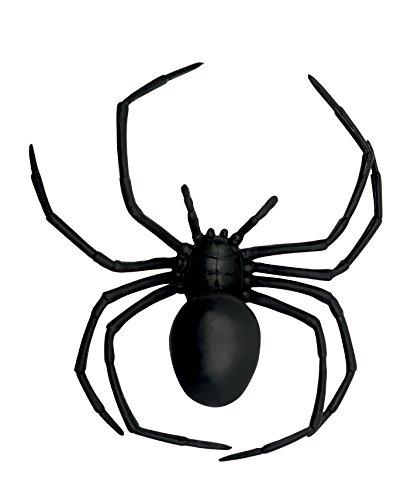 e Witwe, Scherzartikel, circa 18 x 15 cm, schwarz (Schwarze Kunststoff-spinnen)