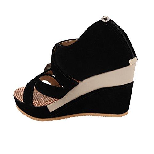 ABJ Fashion Block Heel Wedges Sandals For Women