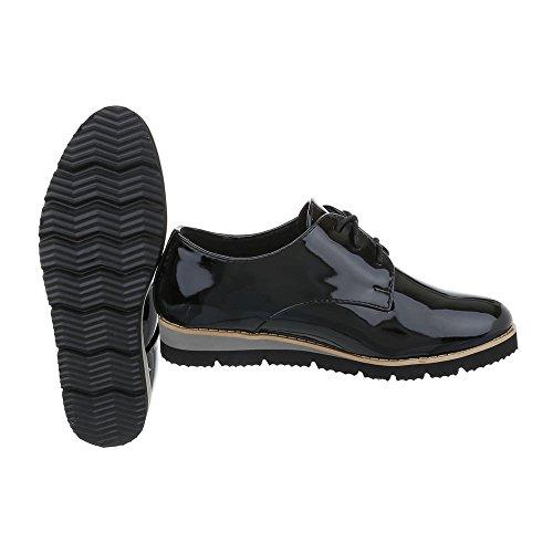 Ital-design - Chaussures Basses Schwarz Ll86 Pour Femme