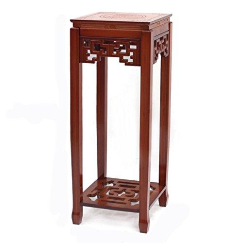 ERRU- Étagères de rangement Étagères de rangement Simple Bamboo Floor-Racks à fleurs Multicouche Salon Balcon Organisation Plateau(couleur en option, 30 * 30 * 78cm) ( Couleur : Vin rouge )