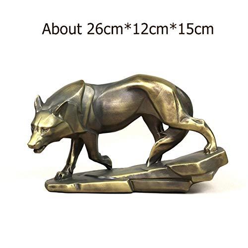 ZEYAUP Estatua Estatua Lobo Vigilante Escultura Animales