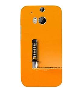 FUSON Cut A Knife Paper 3D Hard Polycarbonate Designer Back Case Cover for HTC One M8 :: HTC M8 :: HTC One M8 Eye :: HTC One M8 Dual Sim :: HTC One M8s