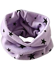 Tongshi Otoño Invierno Niños Niñas collar bebé de la bufanda del algodón O Ring Pañuelos(Morado)