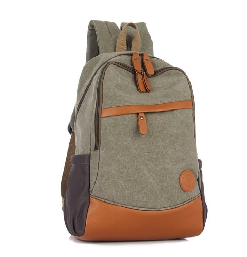 gogou-leisure-school-rucksacks-canvas-leather-backpacks-for-laptop-olive