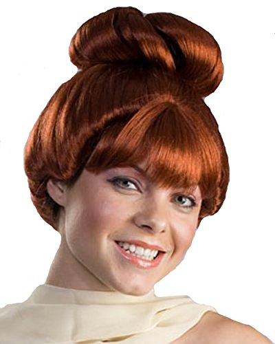 Wilma Feuerstein Perücke The Flintstones Cave Red Auburn -Mädchen-Kostüm -Frauen Erwachsener ()