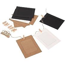 Leorx - Portafotos de cartón para colgar en la pared, para manualidades, en paquete