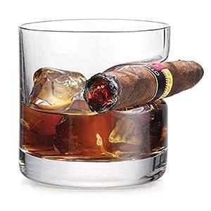 iPawde Whisky-Zigarrenglas, transparente Trinkgläser, Weinzubehör für Whisky, Scotch, Bier, Wein Round