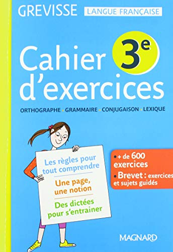 Cahier d'exercices Grevisse 3e