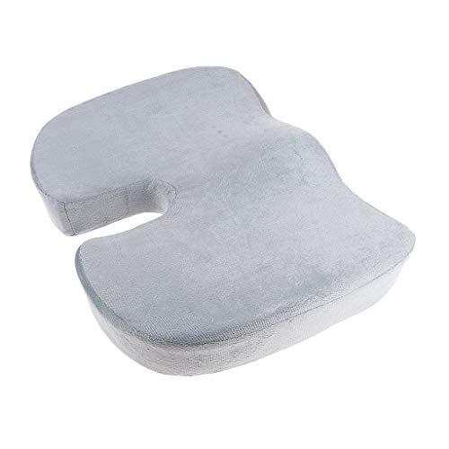 Backbayia Kissen, ergonomisch, Memory-Schaum, Sofa, PVC, Rückseite, Coccyx grau -