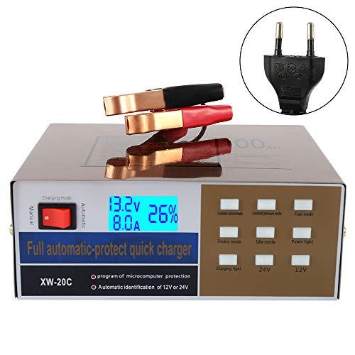 willkey 12V/24V Chargeurs de Batterie Voitures Intelligent LED Automatique 10A PulseType de Réparation Rapide 220 W,Maintainer pour Auto Moto Camion
